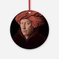 Man in a Turban Ornament (Round)