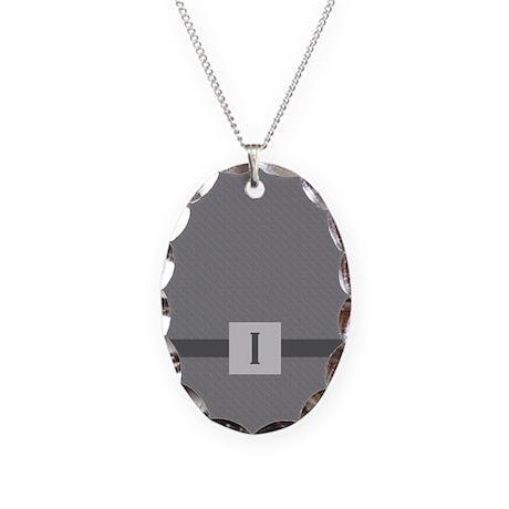 Letraband Mongram I Necklace Oval Charm