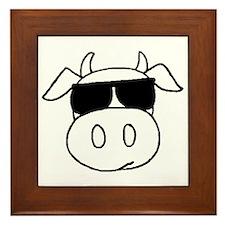 Cow head Framed Tile