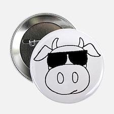 """Cow Head 2.25"""" Button"""