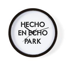 Hecho En Echo Park Wall Clock