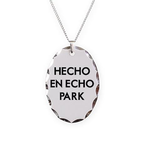 Hecho En Echo Park Necklace Oval Charm