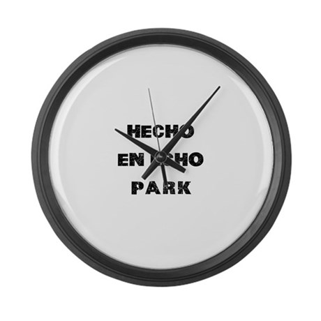 Hecho En Echo Park Large Wall Clock