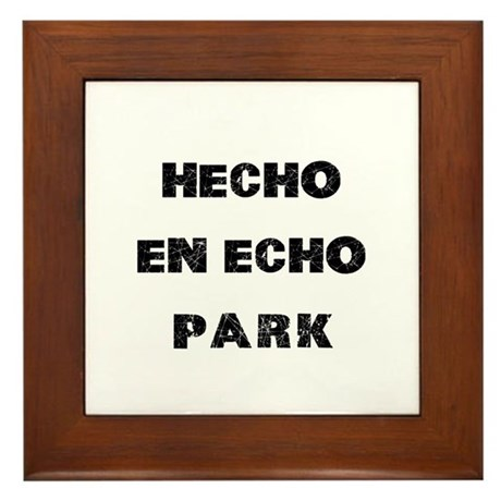 Hecho En Echo Park Framed Tile