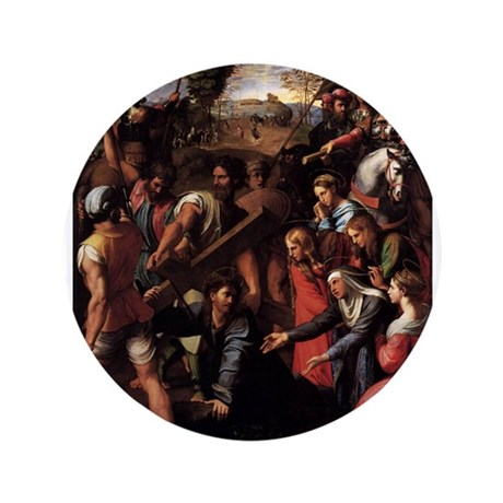 """Christ Falls on the Way to Ca 3.5"""" Button (100 pac"""
