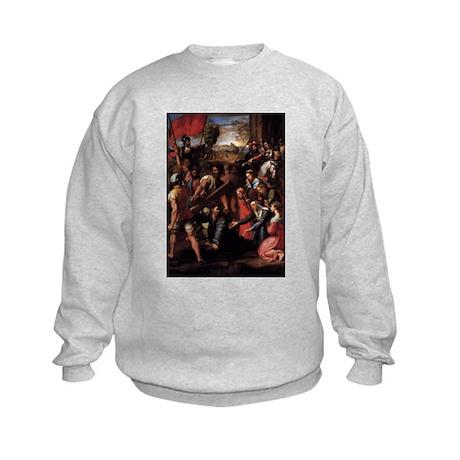 Christ Falls on the Way to Ca Kids Sweatshirt