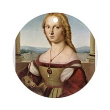 Lady with a Unicorn Ornament (Round)