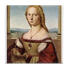 Lady with a Unicorn Tile Coaster