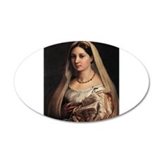 Lady with a Veil 38.5 x 24.5 Oval Wall Peel