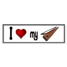 Love Bowed Psaltery Car Sticker