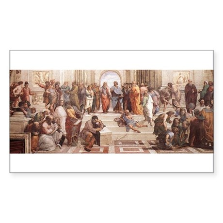 School of Athens Sticker (Rectangle)