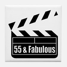 HAPPY 55TH BIRTHDAY Tile Coaster