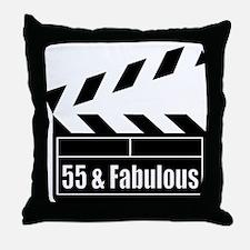 HAPPY 55TH BIRTHDAY Throw Pillow