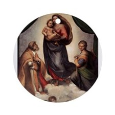 The Sistine Madonna Ornament (Round)