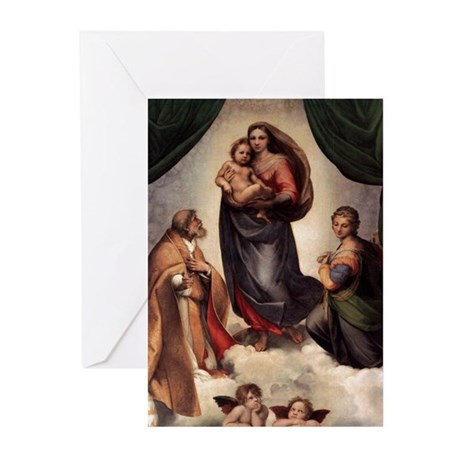 The Sistine Madonna Greeting Cards (Pk of 20)