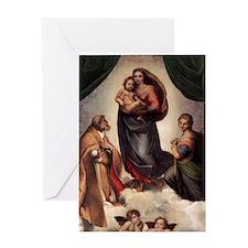 The Sistine Madonna Greeting Card