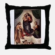 The Sistine Madonna Throw Pillow