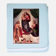 The Sistine Madonna baby blanket