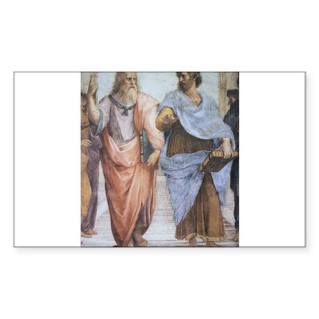 School of Athens (detail - Pl Sticker (Rectangle)