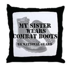 My Sister Wears NG CB Throw Pillow