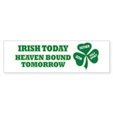 Irish Heaven Bound Bumper Sticker