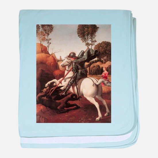 St George and the Dragon baby blanket