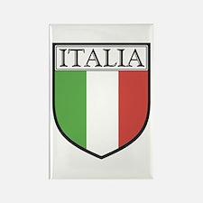 Italia Shield / Italy Flag Rectangle Magnet (10 pa