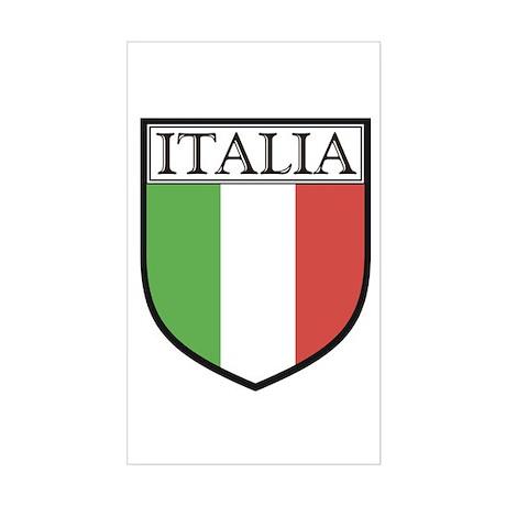 Italia Shield / Italy Flag Rectangle Sticker