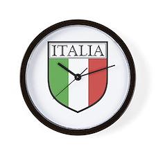 Italia Shield / Italy Flag Wall Clock