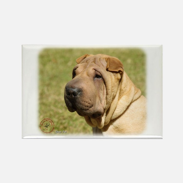 Shar Pei 9L039D-06 Rectangle Magnet (10 pack)