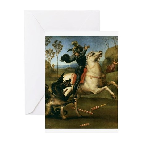 St George Fighting the Dragon Greeting Card