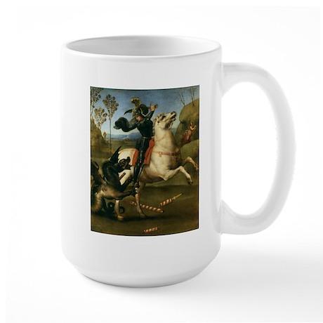 St George Fighting the Dragon Large Mug