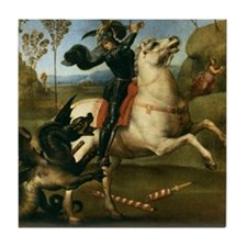 St George Fighting the Dragon Tile Coaster