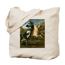 St George Fighting the Dragon Tote Bag