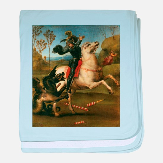 St George Fighting the Dragon baby blanket