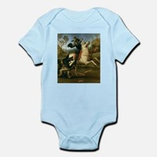 St George Fighting the Dragon Infant Bodysuit