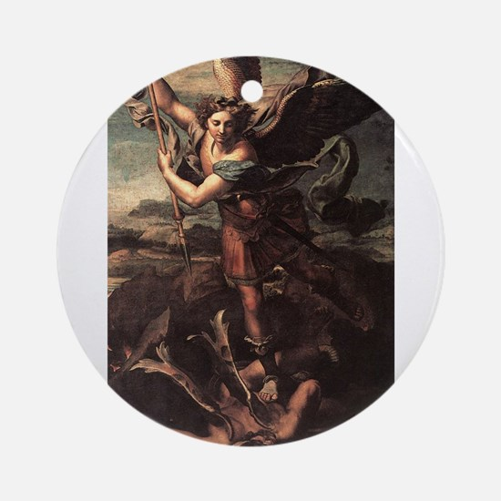 St Micheal and the Devil Ornament (Round)