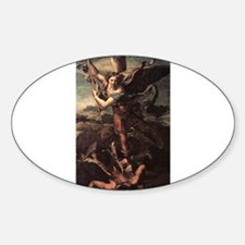 St Micheal and the Devil Decal