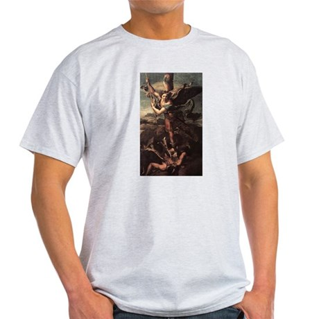 St Micheal and the Devil Light T-Shirt