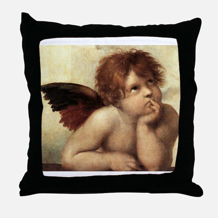 The Sistine Madonna (2nd deta Throw Pillow