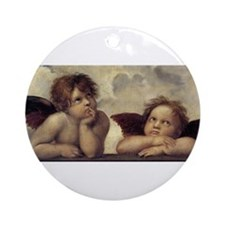 The Sistine Madonna (detail) Ornament (Round)