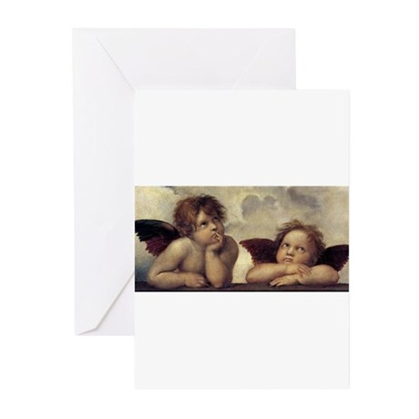 The Sistine Madonna (detail) Greeting Cards (Pk of