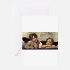 The Sistine Madonna (detail) Greeting Card