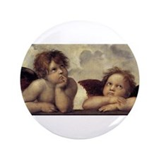 "The Sistine Madonna (detail) 3.5"" Button"