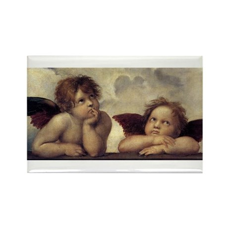 The Sistine Madonna (detail) Rectangle Magnet (10