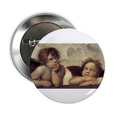 "The Sistine Madonna (detail) 2.25"" Button"