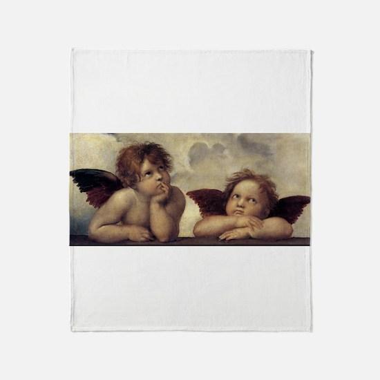 The Sistine Madonna (detail) Throw Blanket