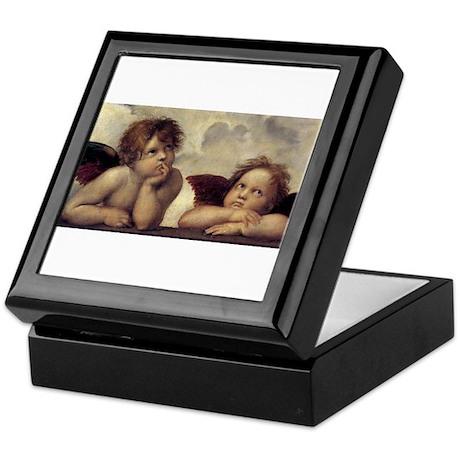 The Sistine Madonna (detail) Keepsake Box