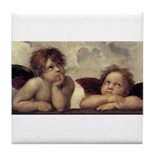 The Sistine Madonna (detail) Tile Coaster