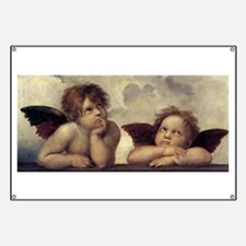The Sistine Madonna (detail) Banner